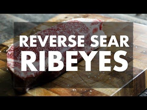 Reverse seared ribeye steak on the REC TEC Wood Pellet Grill.