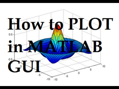 How to plot in matlab GUI | How to use axes in matlab