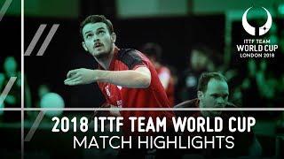 2018 Team World Cup Highlights I Paul Drinkhall/Samuel Walker vs Gustavo Tsuboi/Eric Jouti (1/4)