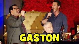 "Luke Evans & Josh Gad Sing ""GASTON"" Live at Beauty and the Beast Press Conference"