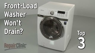 how to clean out front load washer pump