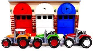 Learn Colors with Tractors for Kids | Yippee Toys Video