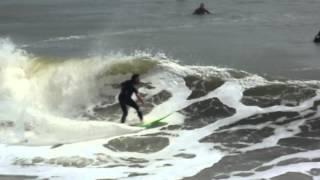 Surfing Jacksonville Beach, Florida Pier