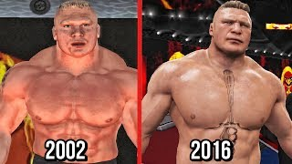 The Evolution Of Brock Lesnar In WWE Games! ( WWE SmackDown! Shut Your MouthTo WWE 2K17 )