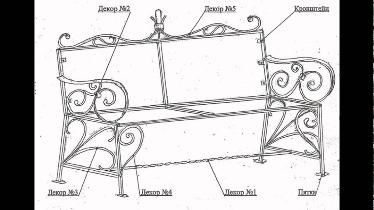 Чертежи скамейки для сада своими руками чертежи