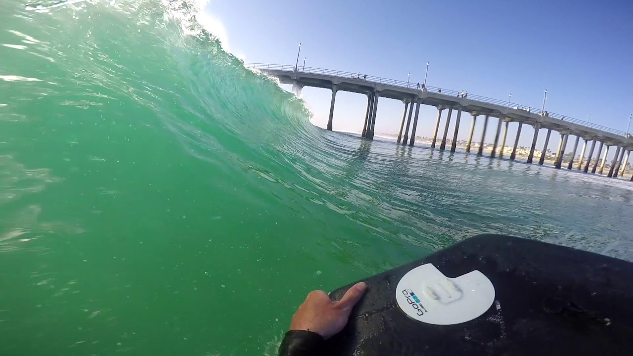 Bodyboarding the wedge