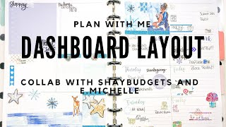 Snowy Winter Dashboard Layout PWM Collab with ShayBudgets & E.Michelle    CJayPlans   HRaneDesigns