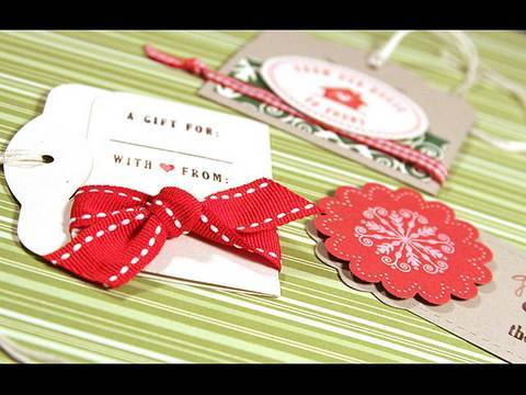 Day 3 - Holiday Card Series - Gift Tags