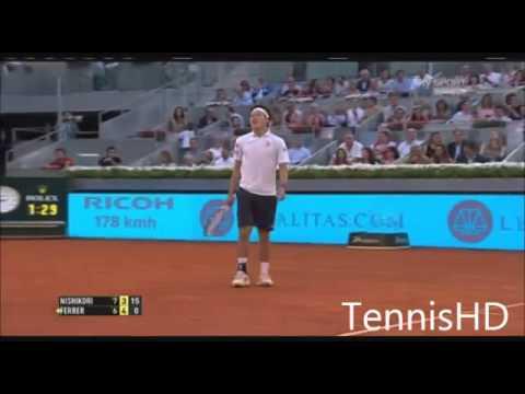 Ferrer vs Nishikori Madrid 2014