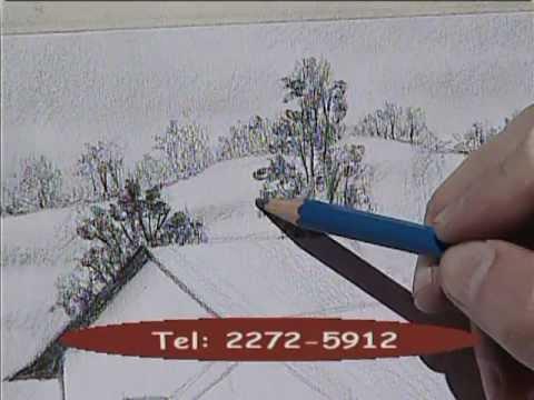 Drawing the farm 1. / Dibujando unos graneros 1.