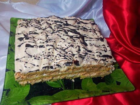 Торт - Воздушный Сникерс (Cake - Air Snickers). Торт-безе