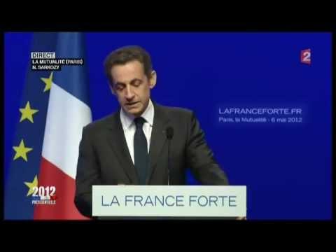 France: Discours d'adieu de Nicolas Sarkozy après sa défaite à la présidentielle.