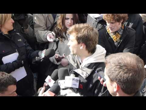 2012/03/26 - Conférence de presse de la CLASSE @ Université de Montréal - 1/3