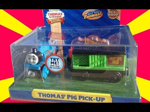 New 2013 Fisher Price - Thomas Pig Pick-Up 3 Pack - Mattel Wooden Railway Toy Train Review
