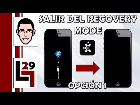 Como salir del Recovery Mode (Pantalla que pide conectar tu dispositivo a iTunes)   Opción 1
