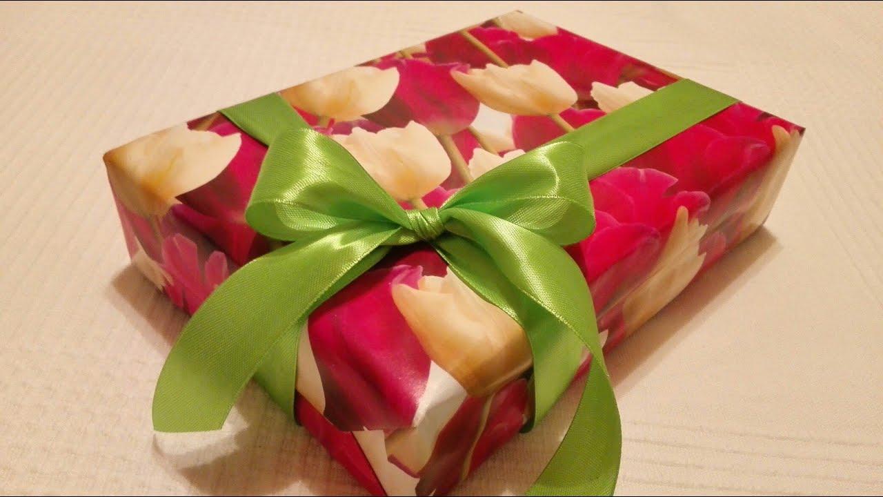 Из чего сделать бантик для подарка 259