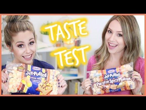 TASTE TEST | Pumpkin Spice & Candy Corn Marshmallows