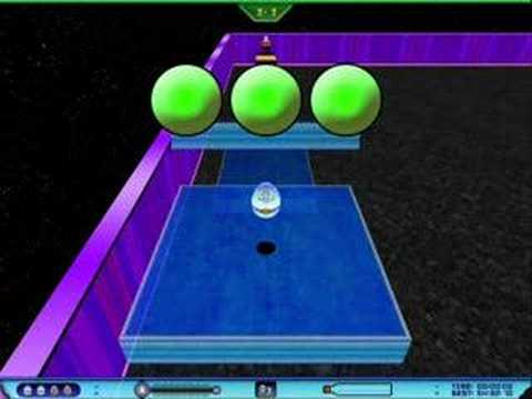 The Little Eggy That Could Marble Madness Style Game Video