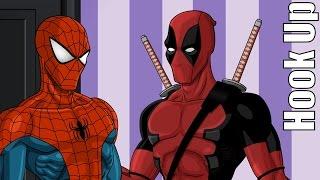 Cartoon Hook-Ups: Deadpool and Spider Man