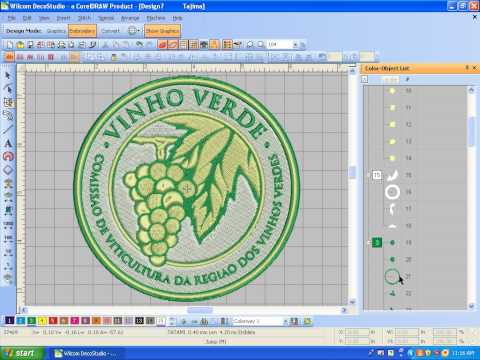 Convert JPeg logo to embroidery format .dst file | Format & Layout