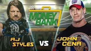 WWE Money In The Bank: AJ Styles vs John Cena Promo