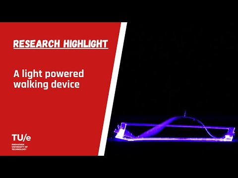 World's first directly light powered walking device (video with text)