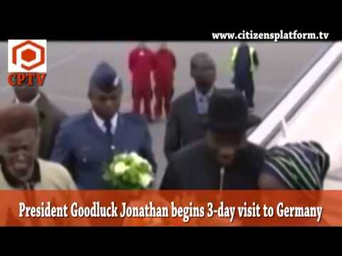 President Goodluck Jonathan begins 3-day visit to Germany