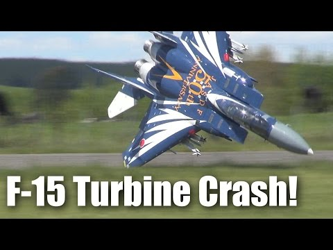 Impressive F-15 Jet Crash (large RC Turbine-powered Model Plane)