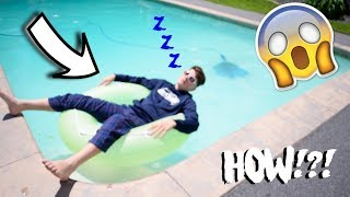 I FELL ASLEEP IN THE POOL!!!