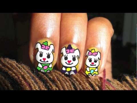 Cute Easter Bunny Nail Art HD (Short Nails)