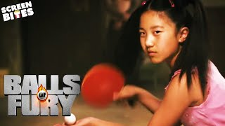 Balls Of Fury: Randy (Dan Fogler) faces The dragon (La Na Shi) in an epic table tennis match