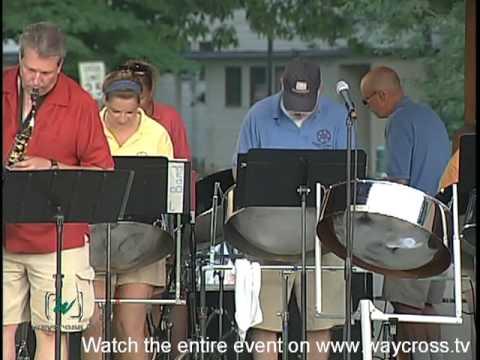 media steel drum band playing bob marley