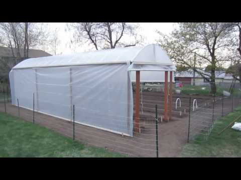 "Greenhouse Construction Plans for a Double 18"" Wide Vegetable Garden"