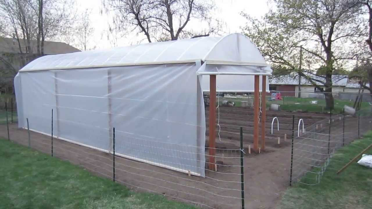 Greenhouse construction plans for a double 18 wide for Garden greenhouse designs