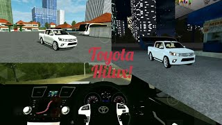 New updated vehicle! Bus simulator indonesia game in Toyota hilux car mod!