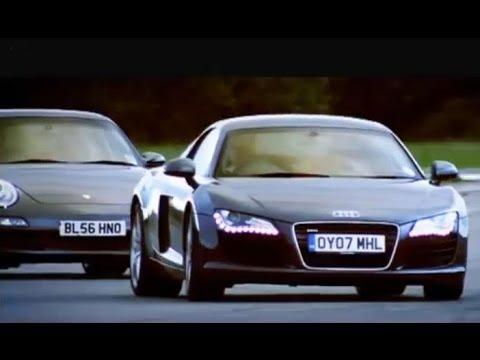 Audi R8 vs Porsche 911 Carrera - Top Gear - BBC Music Videos