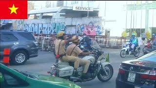 Đoàn hộ tống bị xe bồn cản trở trên đường vào Trung Tâm Tp Hồ Chí Minh