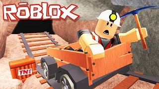 Roblox Adventures / Escape the Mine Obby / Escaping an Underground Dinosaur?!