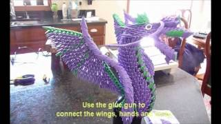 This Is My Secret Way (how To)  To Create A 3d Origami Dragon(american Dragon)