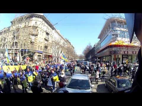 30\03\14 Odessa - Ukraine! No war! No russian occupation! 1000m flag!