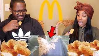 Eating McDonald's Chicken Nuggets WHILE WATCHING HOW THEIR MADE!!