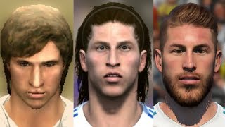 Sergio Ramos transformation from FIFA 06 to FIFA 18