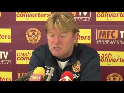 Stuart McCall Pre St Johnstone 30/10/2014