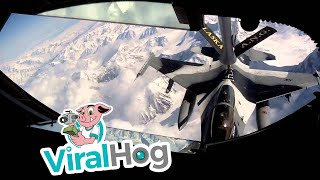 'Passing Gas' to F-16's during Red Flag above the Alaska Range