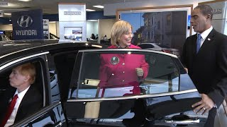 President Obama Shows Hillary Clinton How Presidents Roll in NYC | Hyundai of Long Island City