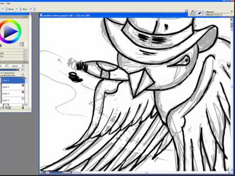 Swallow tattoos are considered old school sailor tattoos. How to ink a swallow tattoo gang design in painter x