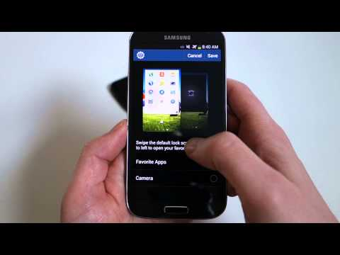 Samsung Galaxy S4 Lock Screen Widget Tutorial