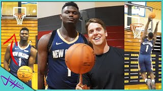 Trick Shot H.O.R.S.E. vs ZION WILLIAMSON!
