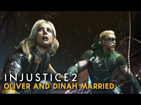 Injustice 2 - Green Arrow & Black Canary Married with Kids (Oliver & Dinah Scene)