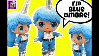 LOL Surprise Unicorn Boy BLUE OMBRE 🦄 DIY GG Custom and Doll Story Video